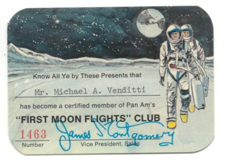 Pan Am - Moon Flight Ticket (Front)